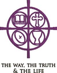 Christian Symbols Way embroidery design