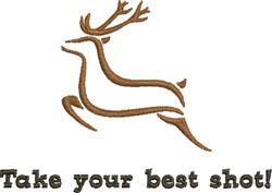 Deer Shot embroidery design