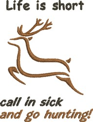 Deer Life embroidery design