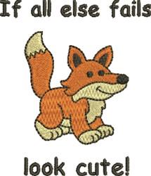 Cute Fox  embroidery design
