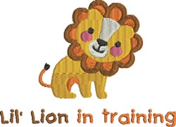 Friendly Lion Training embroidery design