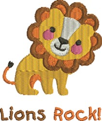 Friendly Lion Rock embroidery design