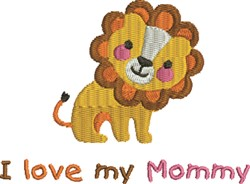 Friendly Lion Love embroidery design