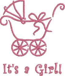 Girl Baby Pram embroidery design