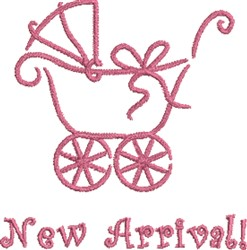 New Girl Baby Carriage embroidery design