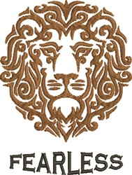 Fearless Lion embroidery design