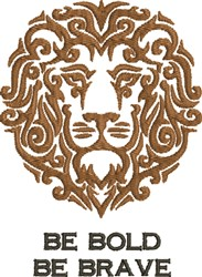 Bold Lion  embroidery design