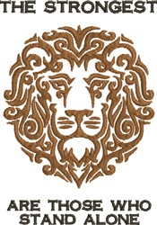 Strongest Lion  embroidery design