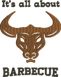 Longhorn Barbecue embroidery design