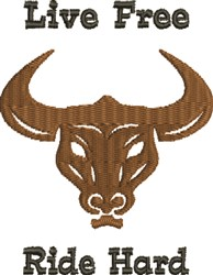 Longhorn Ride embroidery design