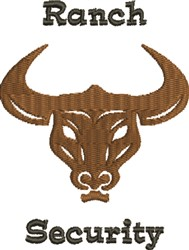 Longhorn Security embroidery design