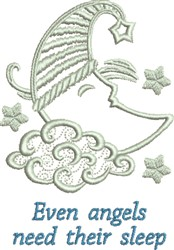 Angels Moon embroidery design