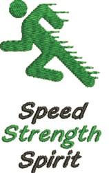 Speed Sprinter embroidery design