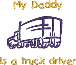 Truck Driver embroidery design