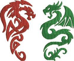 Dragon Pair embroidery design