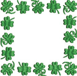 Shamrock Border embroidery design