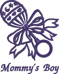 Mommys Boy embroidery design