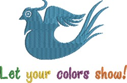 Let Colors Show embroidery design