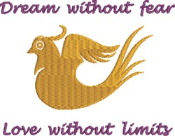 Without Fear embroidery design