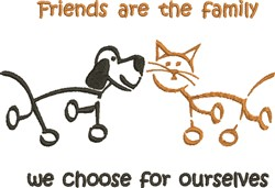 Friends Are Family embroidery design