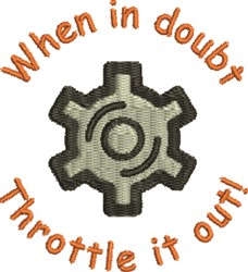 Throttle Out embroidery design