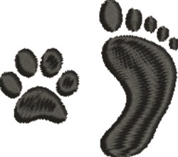 Friends Footprints embroidery design
