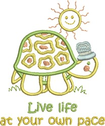 Live Life embroidery design