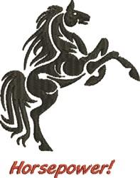Horsepower embroidery design