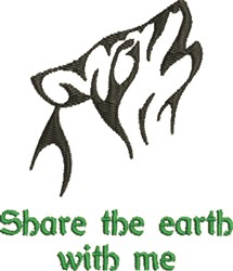 Share The Earth embroidery design