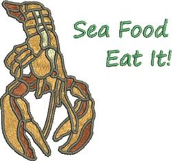 Sea Food embroidery design