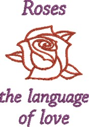 Language Of Love embroidery design