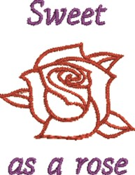 Sweet Rose embroidery design