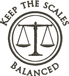 Scales Balanced embroidery design