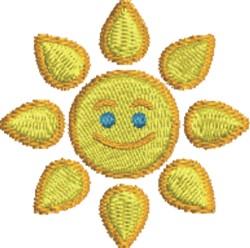 Happy Sun embroidery design