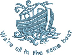 Same Boat embroidery design