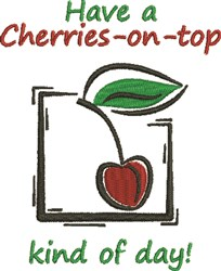 Cherries On Top embroidery design