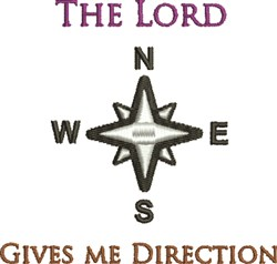 Lord Gives Direction embroidery design