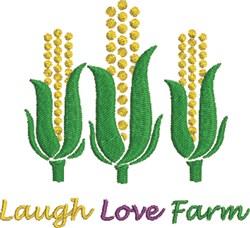 Laugh Love Farm embroidery design