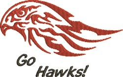 Go Hawks embroidery design