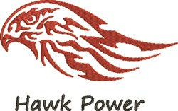 Hawk Power embroidery design