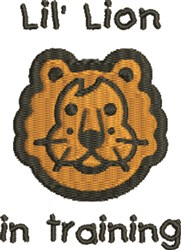Lion In Training embroidery design