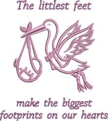 Littlest Feet embroidery design