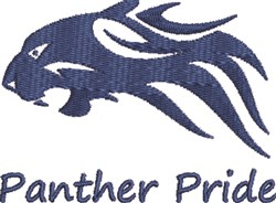 Panther Pride embroidery design