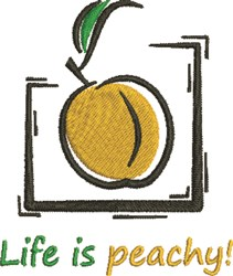 Life Is Peachy embroidery design