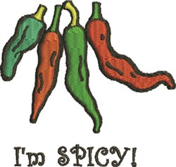 Im Spicy embroidery design