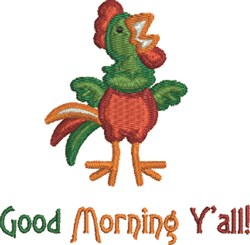 Morning Rooster embroidery design