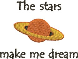 The Stars embroidery design