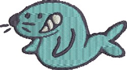 Silly Seal embroidery design