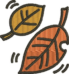 Autumn Leaves embroidery design