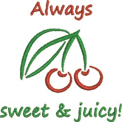 Sweet & Juicy embroidery design